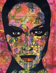 Video Tutorial - Gelli Plate Printing Mixed Media Pop Art With Joanna Grant