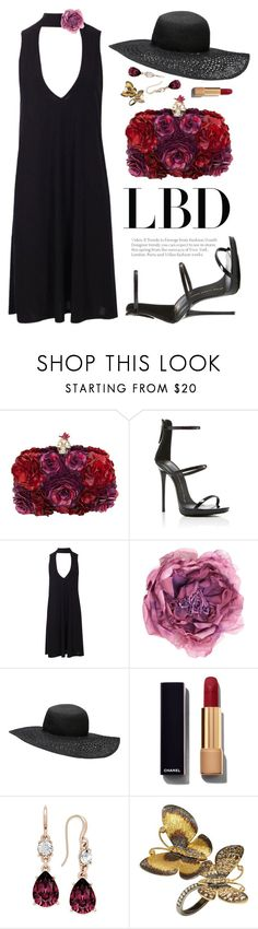 """LBD"" by ivansyd ❤ liked on Polyvore featuring Alexander McQueen, Giuseppe Zanotti, Boohoo, Gucci, Witchery, Chanel, Charter Club, Annoushka and LBD"