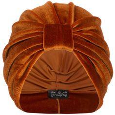 The Future Heirlooms Boutique Ava Velvet Turban in Orange