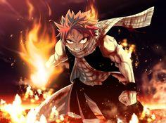Anime Fairy Tail  Natsu Dragneel Fuego Scarf Fondo de Pantalla