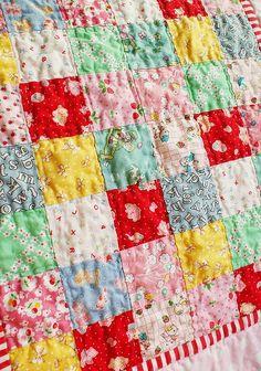 Simple squares quilt. Beautiful!