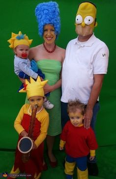 Deanna: It became clear to me that after having our 3rd child, we had the right family configuration to replicate The Simpson's! From there, a Halloween idea was born. The icing...