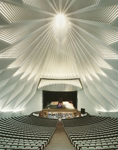 calatrava - tenerife concert hall interior -  canary islands, spain