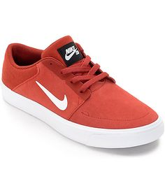 Keep things simple with the Nike SB Portmore Cayenne & White Boys Skate  Shoes. Built
