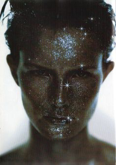 """1998 - Linda Burns as """"Galaxy"""" Make up by Topolino photo by Eric Traore 4 Vogue"""