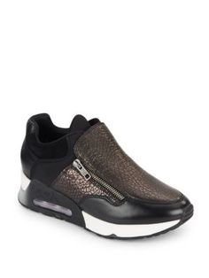 ASH Lenny Leather Sneakers. #ash #shoes #sneakers