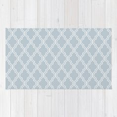 BlueGray Moroccan Rug by The Petite Pear   Society6