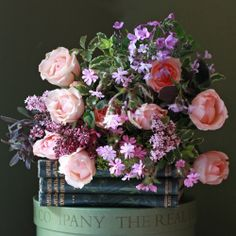 The Real Flower Company Peach Rose & Scented Wild Flower Posy
