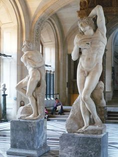 'The Slaves' by Michelangelo (i.e. 'The Rebellious Slave' and 'The Dying Slave,' Louvre)