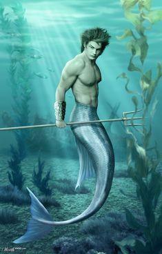 merman | merman by bajazet 3rd place entry in h14h digital art viii underwater