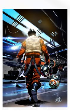 Poe Dameron #1 Variant Cover by Pepe Larraz & David…