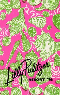 8599309d312cc4 Vintage Lilly Pulitzer 1976 Resort Catalog - pink and green