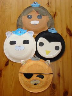 Octonauts puppets on paper plates Van De Maele Van De Maele Markel Green this would be perfect for the wee girlie! Third Birthday, 4th Birthday Parties, Boy Birthday, Birthday Ideas, Toddler Crafts, Crafts For Kids, Octonauts Party, Paper Plate Crafts, Paper Plates