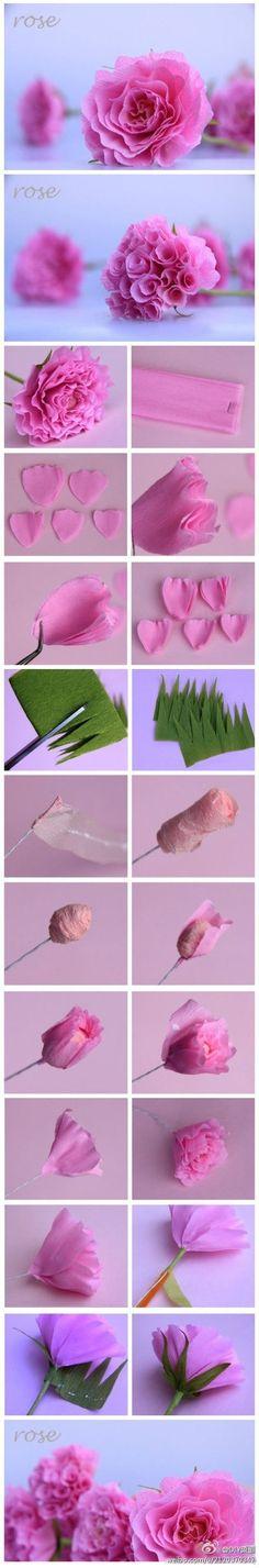 DIY: paper rose tutorials by TinyCarmen