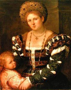 Italian Renaissance Slashing on the outer garment, camicia coming through Turban like headdress