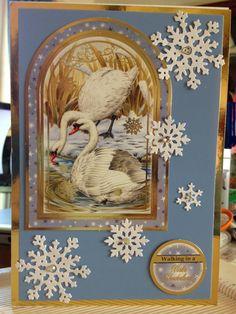 Christmas Card (127) A5 Hunkydory 'Festive Birds of Britain'