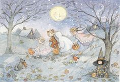 art by becky kelly images   Cupcake Chowder: Halloween cards