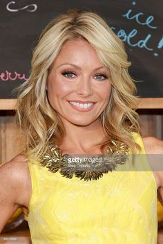 Actress and Talk show host Kelly Ripa attends the Kelly Ripa and Electrolux Virtual Lemonade Stand Campaign announcement at Loeb Central Park Boathouse on June 8, 2009 in New York City.