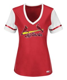 Look what I found on #zulily! St. Louis Cardinals Curve Ball V-Neck Tee - Women & Plus by Profile Apparel #zulilyfinds