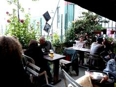 Bar La Cale Sèche – 18 rue des panoyeaux, Paris 20e. Not exceptional drinks, but it'll do and the atmosphere is nice, it's spacious enough, there was a man playing an accordion when I was there on a Friday night. A solid neighborhood bar.