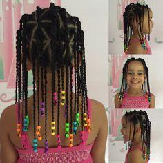 Braids Hairstyles That Don't Take Long Little Mixed Girl Hairstyles, Young Girls Hairstyles, Black Kids Hairstyles, Baby Girl Hairstyles, Kids Braided Hairstyles, Toddler Hairstyles, Ponytail Hairstyles, Hairstyle Ideas, Hair Ideas