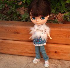 Fluffy waistcoat for Blythe by RainbowDaisies on Etsy