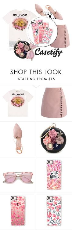 """""""Pink cases from Casetify"""" by strange-girl0 ❤ liked on Polyvore featuring beauty, Gucci, Chicwish, Summit, WithChic and Casetify"""