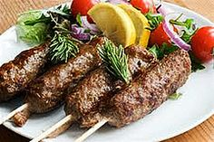 With wet hands skewer the meat into long sausage shapes. Rotate the meat around the skewer, pressing gently all round. Serbian Recipes, Turkish Recipes, Greek Recipes, Serbian Food, Fodmap Recipes, Diet Recipes, Cooking Recipes, Fodmap Diet, Low Fodmap