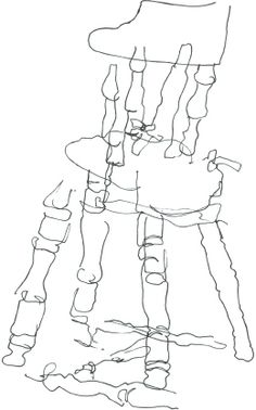 Chair blind contour-- LOVE this chair! Pretty good perspective , wouldn't you say?