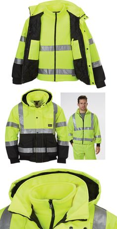 When you're looking for outdoor work apparel, you need to keep a two things in mind: visibility and protection from the weather.