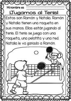 Easy Reading for Reading Comprehension in Spanish - Summer Sports: Spanish Teacher, Spanish Classroom, Spanish Language Learning, Teaching Spanish, Learning Sight Words, Spanish Worksheets, Spanish Lessons, Learn Spanish, Bilingual Education