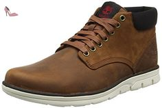 Timberland Bradstreet Leatherred Brown Fg, Bottes Chukka Homme, Marron (Red Brown Fg), 43 EU - Chaussures timberland (*Partner-Link)