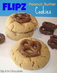 Salivating at the idea. Chocolate: Peanut Butter Flipz Cookies {Basic PB Cookies}