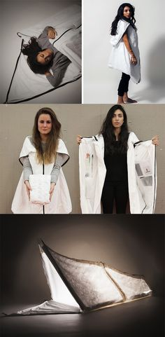 'Wearable shelter' is thoughtfully designed for refugees to alleviate some of their struggles by providing a personal sanctuary that moves with the user to provide comfort and security day or night, awake or asleep... READ MORE at Yanko Design !