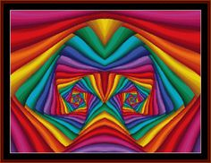 FR-458 - Fractal 458 - All cross stitch patterns - Abstract - Fractals - Graphic Art - - Whimsical - Cross Stitch Collectibles