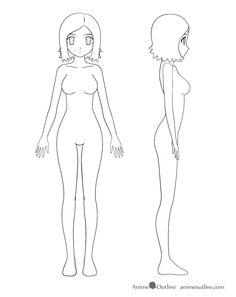 female body template by faithtale on deviantart drawings