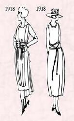 Attainable Fashion for All High fashion until the twenties had been for the richer women of society. But because construction of the flapper's dress was less complicated than earlier fashions, women were much more successful at home dressmaking a flapper dress which was a straight shift. It was easier to produce up to date plain flapper fashions quickly using flapper fashion Butterick dress patterns. Recorded fashion history images after the twenties do reflect what ordinary women really…