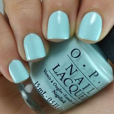Baby Blue Nail Polish New Opi Gelato My Mind Pale Baby Pastel Blue Creme<br> Pastel Blue Nails, Baby Blue Nails, Opi Nails, Manicure, Mani Pedi, Gelato, Blue Nail Polish, Colorful Nail Designs, Types Of Nails