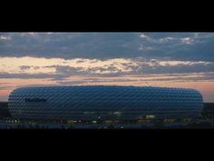 Dynamische Philips LED-Beleuchtung für die Allianz Arena - YouTube