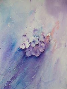 Art by Judith Farnworth: Hydrangea Study Step by Step
