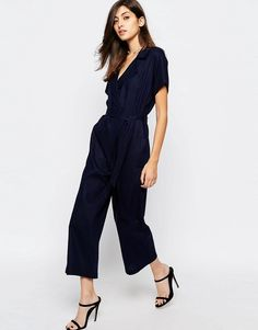 ASOS Wrap Jumpsuit in Linen