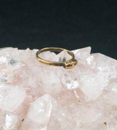 Brass Tiny Bolt Ring by Robbie Simon Jewelry on Scoutmob