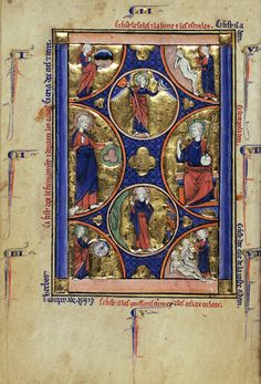 The Creation of the World  Wenceslaus Psalter  French, Paris about 1250-1260  Tempera colors, gold leaf and ink on parchment