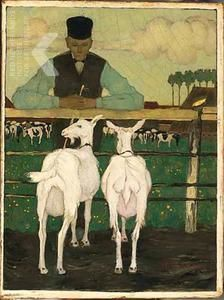 Boer met geitjes (vader van Jan Mankes), Jan Mankes