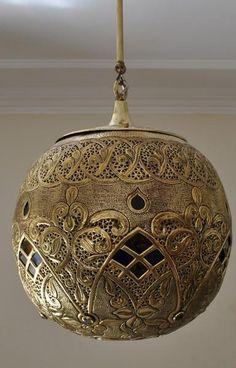 Moroccan Oxidize Brass Lantern Lamp Lighting
