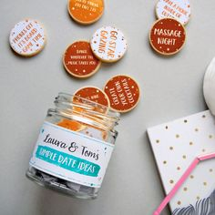 A personalized jar full of exciting date-night ideas you can use all year.   27 Amazing Products To Share With The One You Love