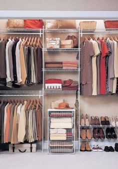 add basket drawers to the closet instead of the shelves right now