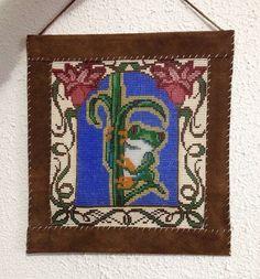 Beaded Frog Tapestry   by Beadworkbyjenny on Etsy, $75.00