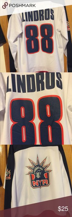 Eric Lindros New York Rangers NHL Hockey Jersey Vintage New York Rangers hockey jersey. Size Large. Excellent condition. Other