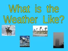 This PowerPoint presentation is an excellent way to expose kindergarteners to weather vocabulary words, including sunny, cloudy, snowy, rainy, wind...